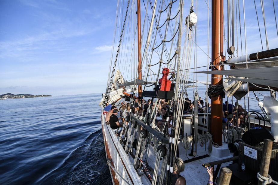 historic wooden sailing yacht Ibiza
